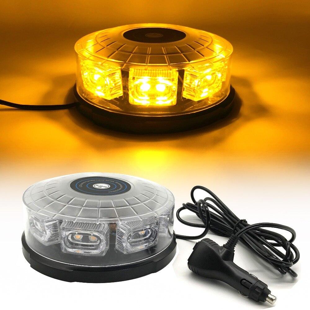 16 LED Super Bright car roof strobe light led lightning flashing warning lights Beacon Police Emergency