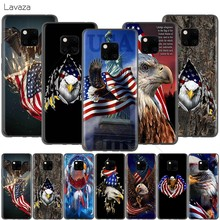 Lavaza American Eagle USA Flag สำหรับ Huawei P30 P20 P10 P9 P8 Mate 20 10 Pro Lite P 2017(China)