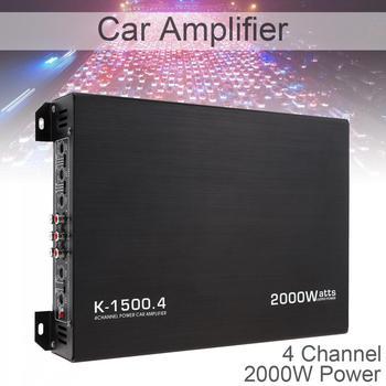 12V 2000W 4-kanał Audio Stereo głośnik basowy samochodowy sprzęt Audio wzmacniacze Subwoofer samochodowy sprzęt Audio wzmacniacze tanie i dobre opinie NoEnName_Null 105dB 120HZ - 3KHZ Full Body Heat Dissipating Aluminum Alloy