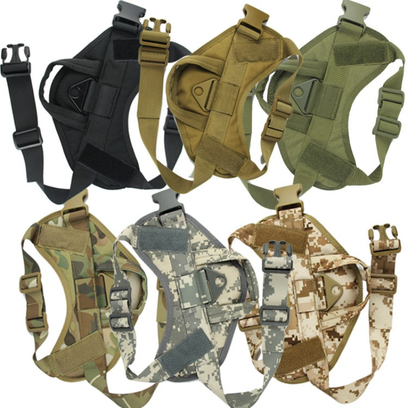 Tactical Dog Hunting Harness Vest Molle System Water Resistant Vest Harness Service Comfortable Dog Training Harness