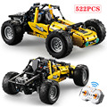 522 pcs 2.4 Ghz Technic Stad Serie RC All Terrain Off-Road Klimmen Vrachtwagens Auto Off-Road Racing bouwstenen Bricks Kinderen Speelgoed