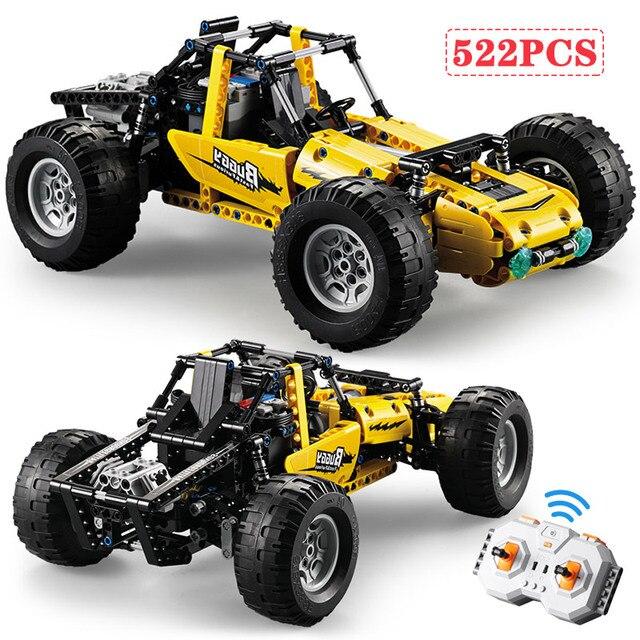 522 stücke 2,4 Ghz Technic RC Alle Gelände Off Road Klettern Lkw Auto Off Road Racing Bausteine ziegel Kinder Spielzeug