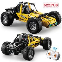 522pcs 2.4Ghz טכני RC כל השטח מחוץ טיפוס משאיות רכב מחוץ לכביש מירוץ אבני בניין ילדי לבנים צעצועים