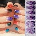 12 hoja transferencia Nail Art Stickers 3D diseño Tips manicura Diy tatuajes de transferencia de agua calcomanías etiqueta engomada del clavo