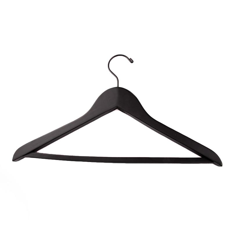 50 vnt / lotas, prabangus storas juodos medienos paltai drabužių - Organizavimas ir saugojimas namuose - Nuotrauka 5