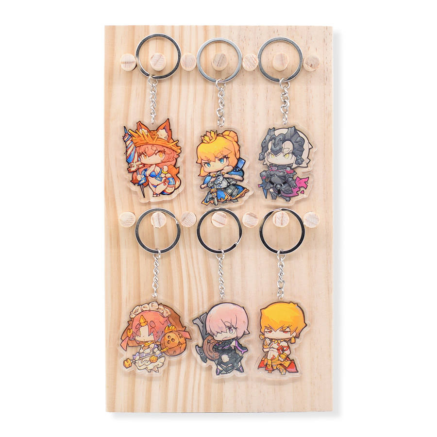 10pcs/Set Fate/Grand Order Keychain Cute Double Sided FGO Keyring Anime Acrylic Key Chain Cartoon Accessories mini motorcycle helmet keychain cute keyring