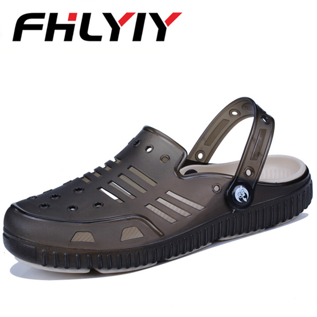 a971c7eb96f76 Plus Size 45 Men Sandals Summer Hollow Out Breathable Beach Shoes Casual  Outdoor Slippers Flip Flops Zapatillas Hombre Man Blue