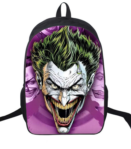 16 Pulgadas Mochila Batman Joker Diaria Mochila Niños Niñas Mochilas escolares Pikachu Mochila Para Adolescentes Mochilas Para Niños