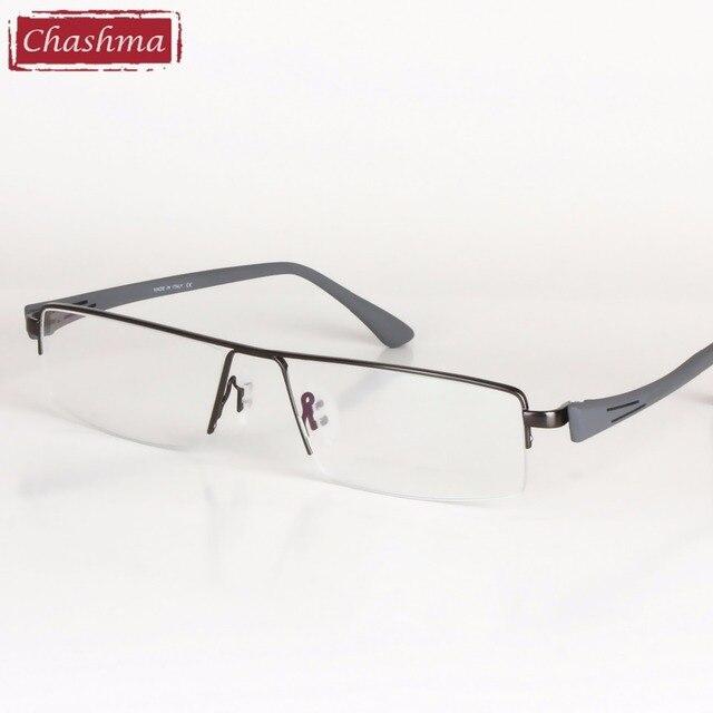 Big Frame Titanium Alloy Eyeglass Half Rimmed Men Wide Face Glasses Spectacle Frame Large Size Eye Flasses Frames for Men