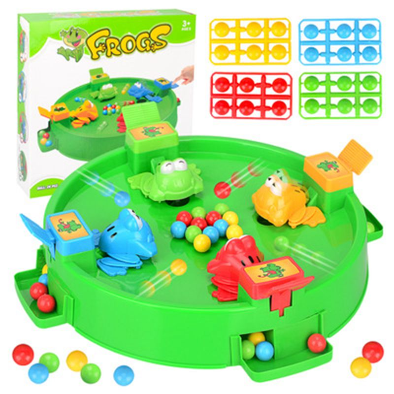 2019 Funny Frog Eating Beans Board Games Toys For Children Interactive Desk Table Game Family Game Educational Toys Kid Gifts