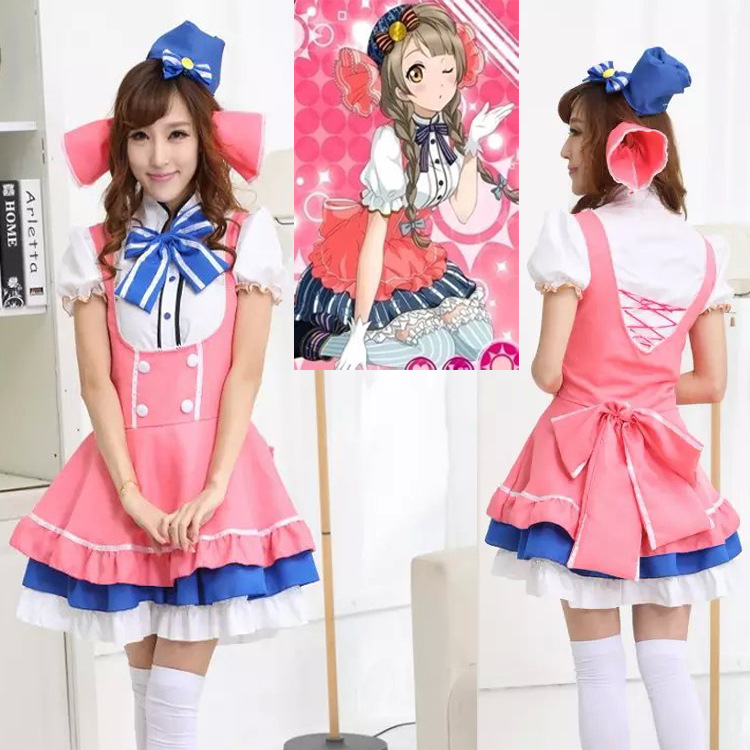 2017 new love live /Minami Kotori cosplay candy costume Lovely cos clothing dress ACG550