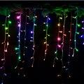 220 V Led String Luzes De Natal Cortina de 3.5 m/96 leds Com 8 Modos de Férias/Festa/jardim/Ano Novo/Decoração Frete Grátis