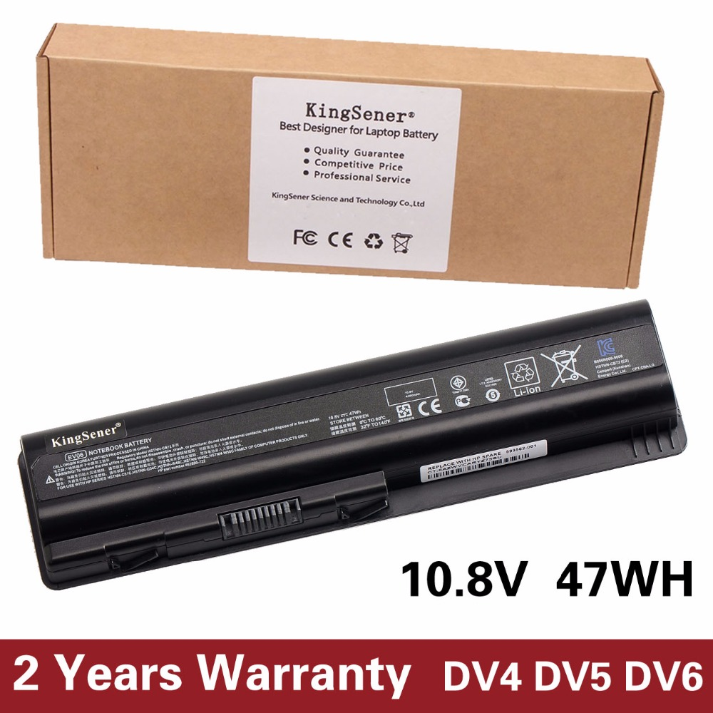 Korea Cell New EV06 Battery for HP Pavilion DV4 DV5 DV6 for Compaq Presario CQ50 CQ71 CQ70 CQ61 CQ60 CQ45 CQ41 CQ40 HSTNN-LB73 lidy pa 1650 02hc 65w 3 5a ac power adapter for hp compaq cq35 cq40 cq45 7 4 x 5 0mm