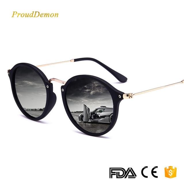 b845c02574 2018 New Arrival Round Sunglasses Retro Men women Brand Designer Sun  glasses Vintage coating mirrored Oculos