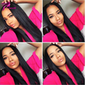 Unprocessed Silk Top 4x4 Full Lace Human Hair Wigs With baby hair Virgin Brazilian Straight Glueless Lace Front Wigs for women