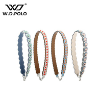 WDPOLO New Women Genuine Leather Bag Strap Fashion Rivet Design Handle For Lady Shoulder Belt Chic Bags Accessories