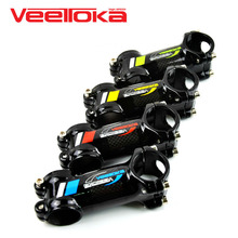 New Aluminum Alloy & 3K carbon fibre bicycle stem 31.8*80-100mm 6 degrees mountain bicicleta road bike mtb stems cycling parts 3k full carbon fibre bicycle stems extender bracket stopwatch mtb road bike stem cycling parts 6 degree 31 8 80 90 100 110mm