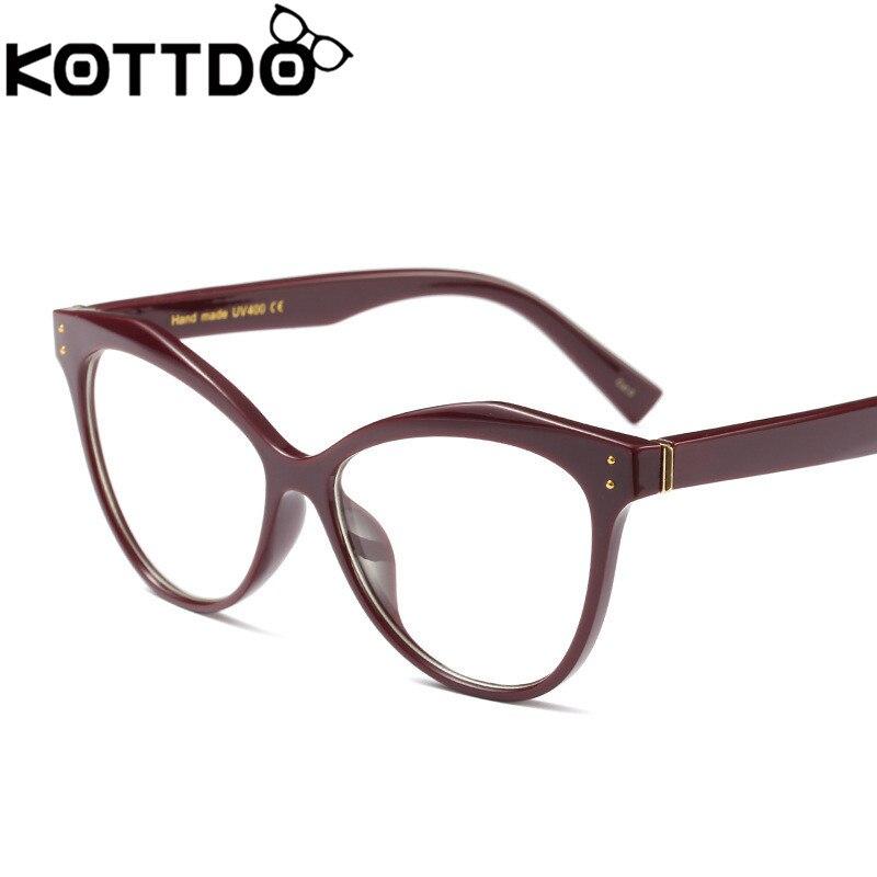 19f0ed2f30 Fashion Cat EyeGlasses Frame Women Retro Vintage Reading Eyeglasses Frame  Men Glasses Optical mypia glassses Eyewear Oculos-in Eyewear Frames from  Apparel ...