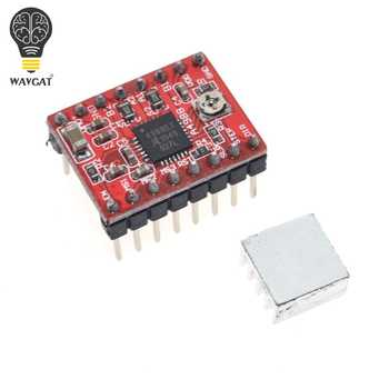 WAVGAT 1Set Mega 2560 R3 + 1pcs RAMPS 1.4 Controller + 5pcs A4988 Stepper Driver Module +1pcs 2004 controller for 3D Printer kit