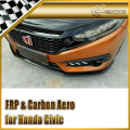 Car-styling Carbon Fiber Front Lip Fit For Honda 10th Generation Civic FC KS-Style