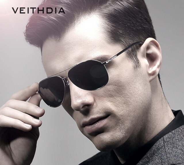 08c485d206 VEITHDIA Aviator Fashion Sunglasses Polarized Men Mirror Driving Sun  Glasses oculos Male Eyewear Accessories 2366