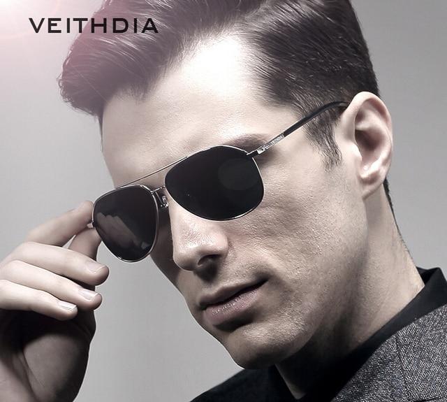 d18abc47e8 VEITHDIA Aviator Fashion Sunglasses Polarized Men Mirror Driving Sun Glasses  oculos Male Eyewear Accessories 2366