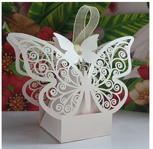100 pcs/lot White/Pink laser Cut Wedding Candy Box Favor Gifts Boxes Party Centerpieces Holiday Supplies