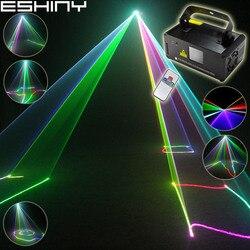 ESHINY RGB خطوط الليزر شعاع المسح 400 عن بعد DMX DJ الرقص بار القهوة عيد الميلاد المنزل حفلة ديسكو تأثير نظام إضاءة الإضاءة B120N8