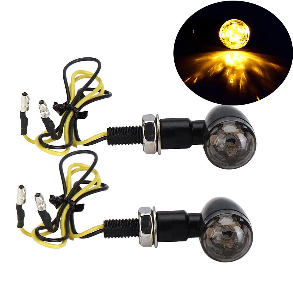 12V LED Motorcycle Lights Turn Signal Indicator Lighting Amber Universal For Honda For Cafe Racer Motorcycle Blinker