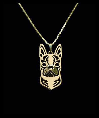 Ожерелье бохо из сплава Бостонского терьера модное ожерелье