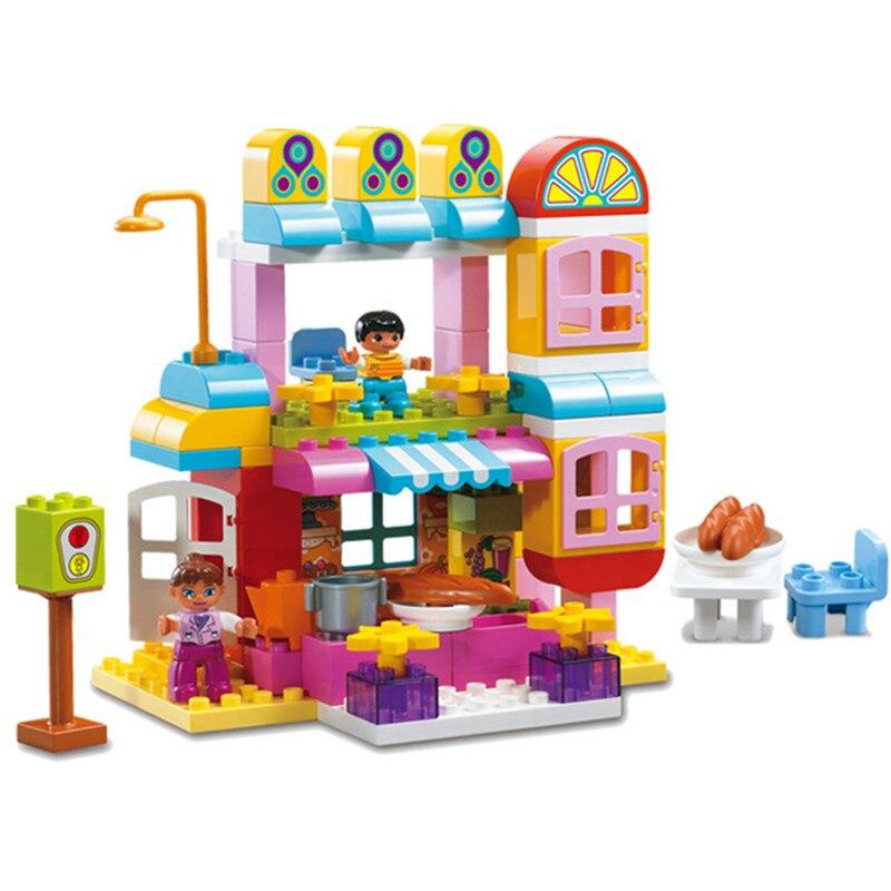 Bricolage Happy Kicthen Restaurant hôtel chiffres blocs Set Duploed jouets pour enfants cadeaux de noël