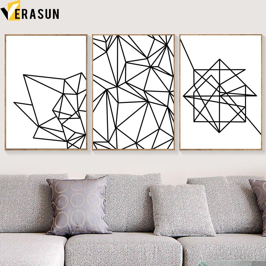 ВЕРАСУН Геометричні лінійні плакати - Домашній декор