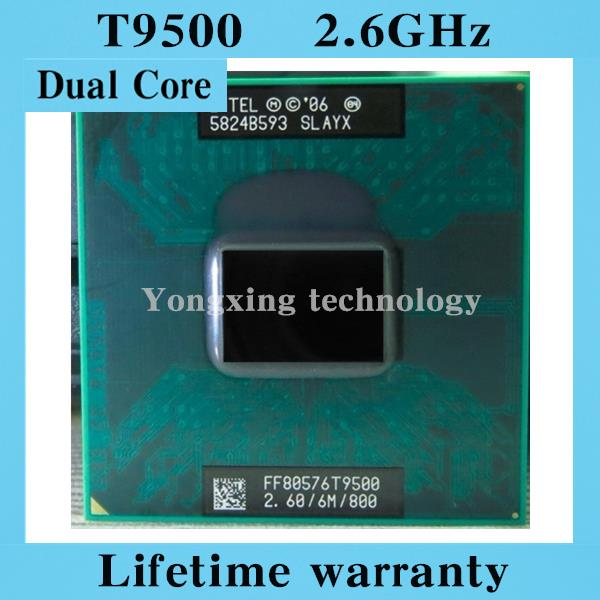 ФОТО Lifetime warranty Core 2 Duo T9500 2.6GHz 6M 800 Dual Notebook processors Laptop CPU Socket PGA 478 pin Computer Original
