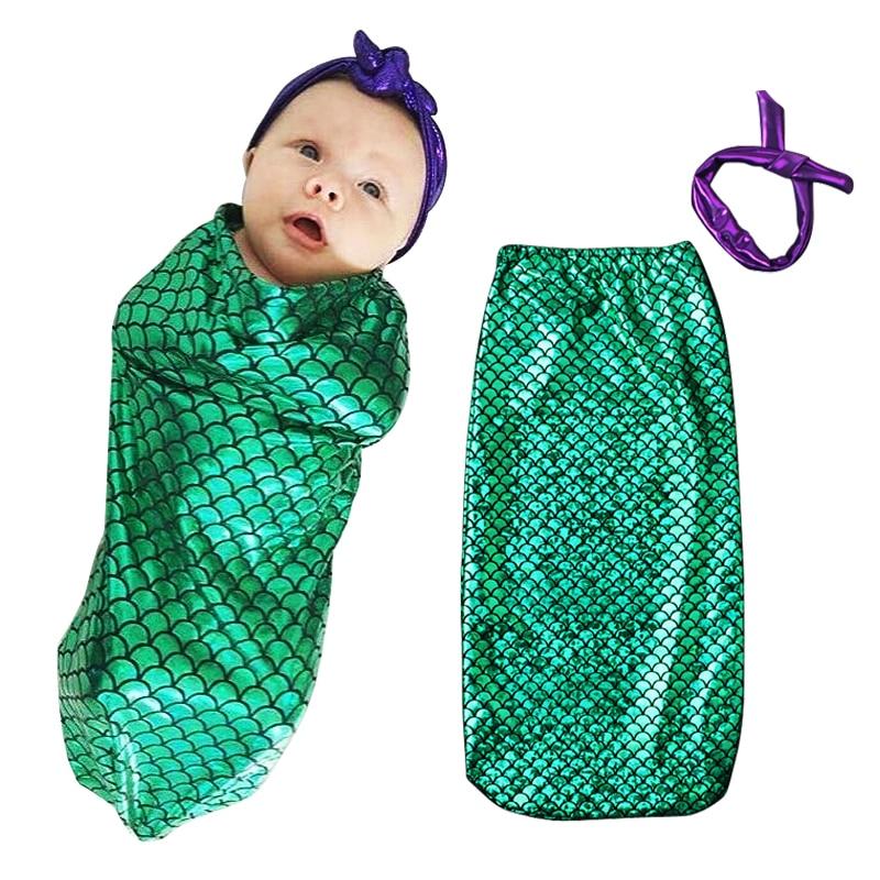 Mode Niedlichen Kleinen Meerjungfrau Neugeborenen Fotografie Requisiten Babymütze Baby Kostüm Fotografie Ds40