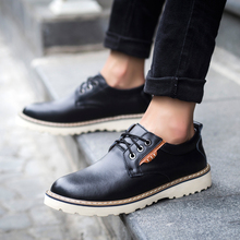 WholePop Fashion Low Top Cow Leather Mens Tooling Shoes High Quality Genuine Leather Rubber Outsole Outdoor Men Casual Shoes