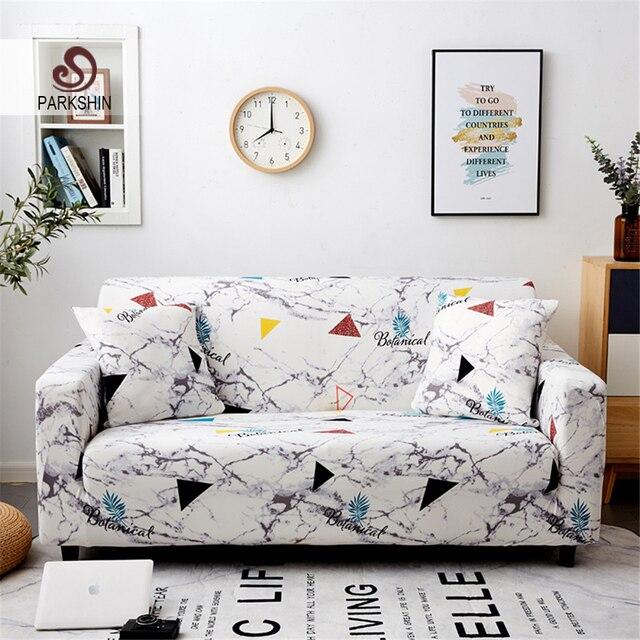 Parkshin geométrico 1/2/3/4 asientos Slipcover Stretch sofá cubre muebles Protector de poliéster Loveseat sofá cubierta toalla