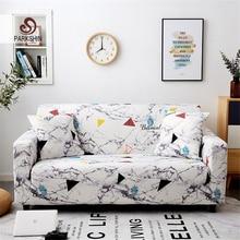 Parkshin geometryczny 1/2/3/4 Seater narzuty rozciągliwy pokrowiec na sofę pokrowiec na meble poliester Loveseat narzuta na sofę, Sofa, ręcznik,
