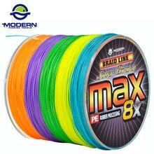500 M de PESCA MODERNA Marca MAX Japón serie multicolor 10 M 1 Color mulifilament PE Trenzado Línea De Pesca 8 Hilos cables trenzados
