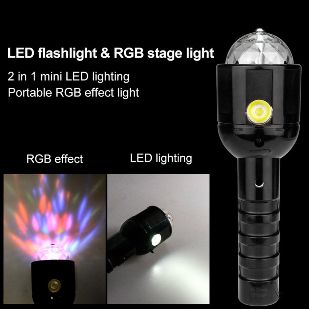 Handheld Stage Light Party Disco LED Magic Crystal Ball Strobe Lamp