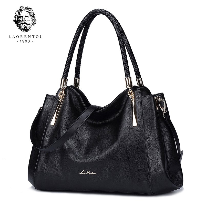 Laorentou Women's Bags Genuine Leather Luxury Handbag Valentine's Day Gift Ladies Casual Tote Purse Fashion Shoulder