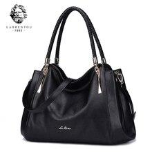 LAORENTOU Real Leather Luxury Ladies Handbags Women Bags Designer Shoulder Bag Casual Tote Cow N50