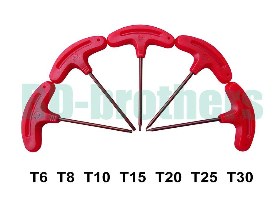 T Shaped Screwdriver T6 T8 T10 T15 T20 T25 T30 Torx Screwdrivers Spanner Key S2 Explosion
