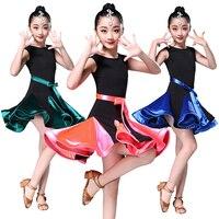 Sexy Latin Dance Dress for Girls Kids Professional Ballroom Salsa Dance Wear Outfits Children's Party Performance Costume