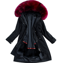 Natural fox fur collar fur pike jacket winter women's jacket real fox fur collar natural fox fur long coat Rex rabbit hair 2018 rex rabbit fur coat girl fur coat wine red natural rabbit fur jacket girl jacket children s wear casual warm clothing