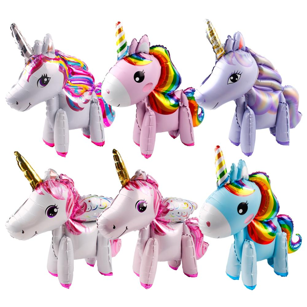 Image 4 - Macaron Figure Birthday Balloons Unicorn Party Decor Unicorn Foil Ballon Number Baloon 1st Birthday Party Decor Kids Baby Shower-in Ballons & Accessories from Home & Garden