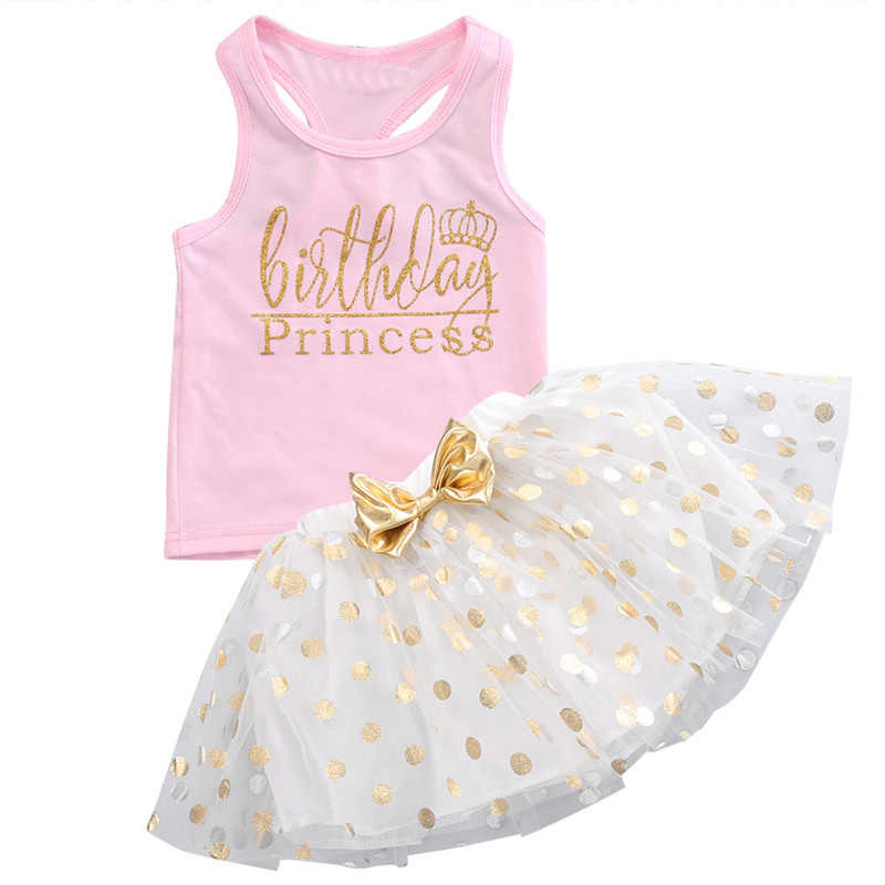 53171667135d5 3 Colour Newbore 2017 Fahion Kid Baby Girl Birthday Outfit Sleeveless Top T-shirt  Party