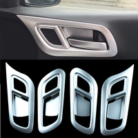 ABS Chrome Interior Door Handle bowl cover trim For Honda City 2015 20016 2017 LHD Car Styling Accessories 4pcs/set