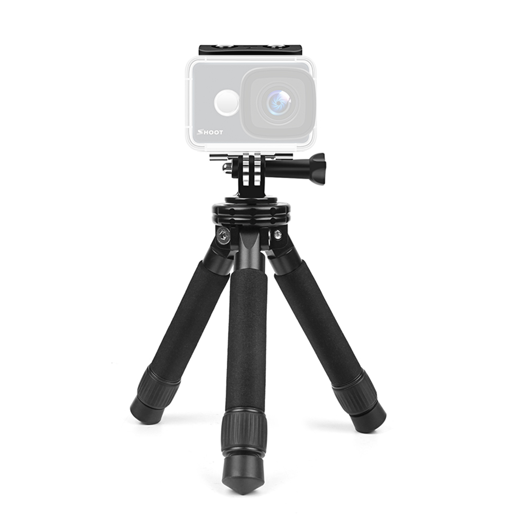 New Adjustable Mini Portable Stable Tabletop Desktop Tripod for Gopro Canon Nikon Sony Action Camera With Phone Clip Adapter