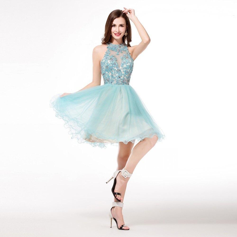 Short High Neck Homecoming Dresses
