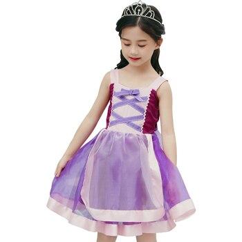 0fc1d3a8e Halloween carnaval dormir belleza vestido niñas Pascua fiesta Cenicienta  princesa vestido de fiesta ...